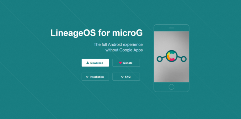 LineageOS for MicroG website